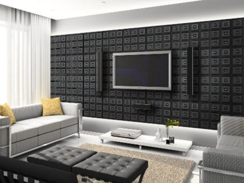 custom living room with 3D wall panels decor GTA