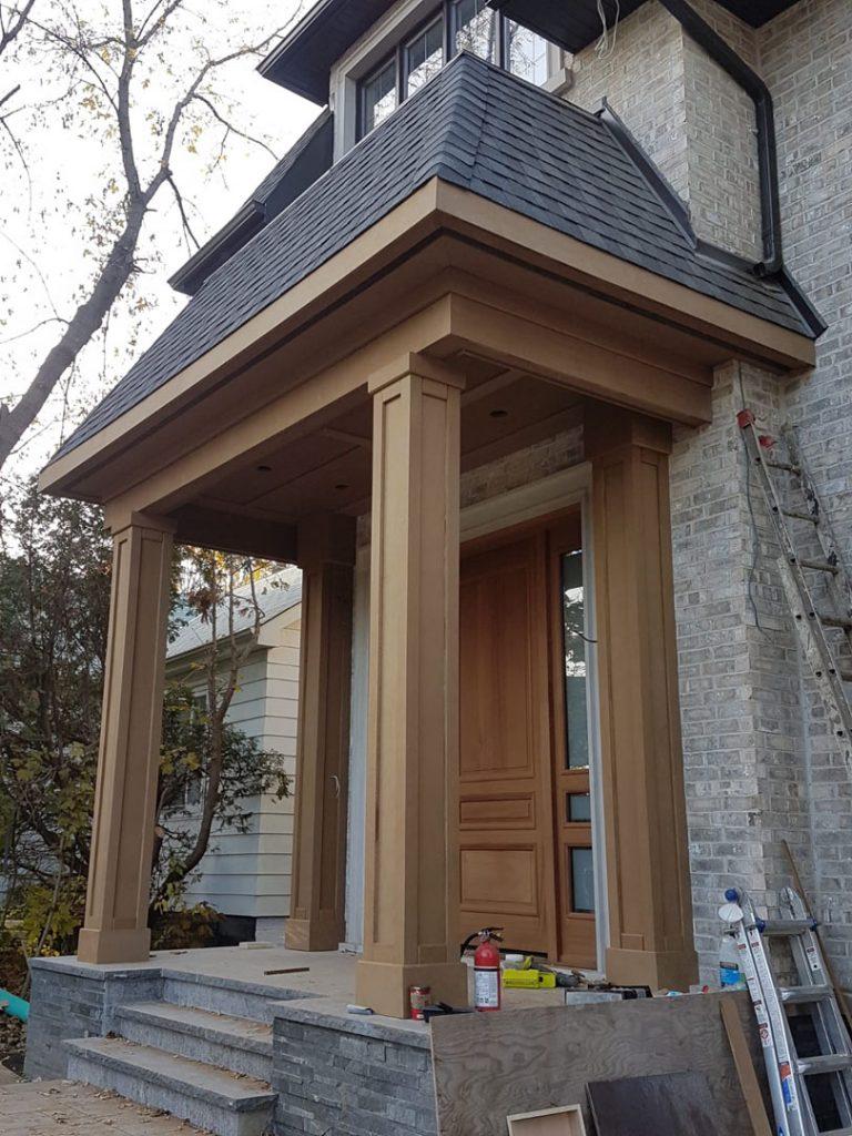 wooden trim