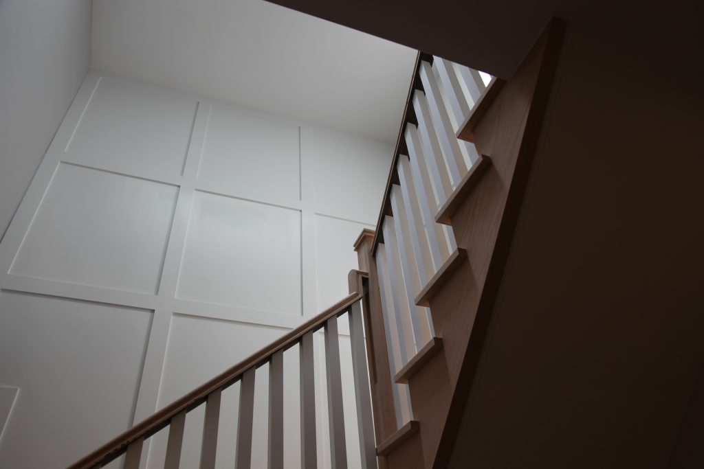 wainscot wall decor in amazing staircase