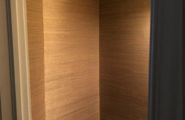 small room with luxury wallpaper installation by prestige painting aurora