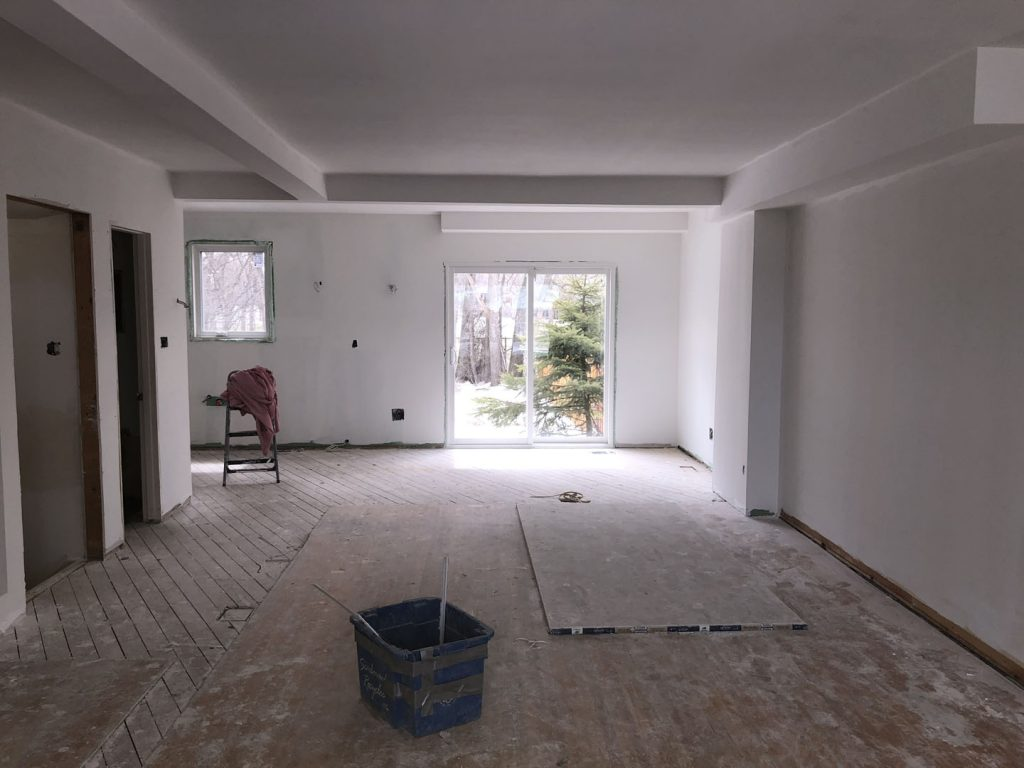 interior basement drywall installation