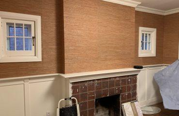 Before installing new wallpaper in family room