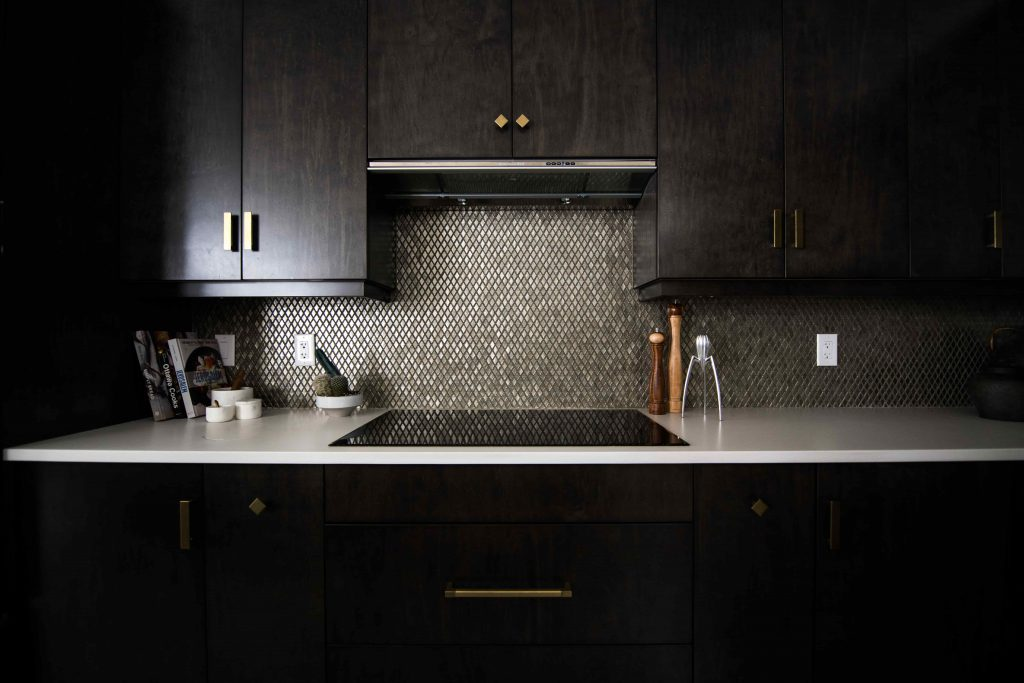 luxury kitchen with dark wood cabinets - home painting toronto