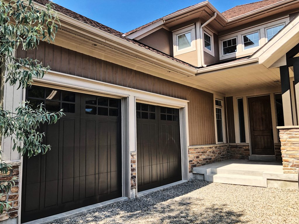 custom home with luxury exterior painting