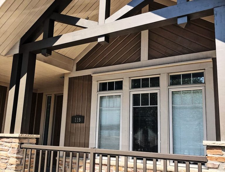 exterior painting on custom home