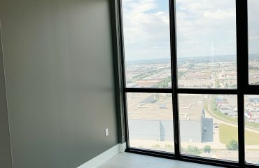 custom condo apartment with gray interior painting