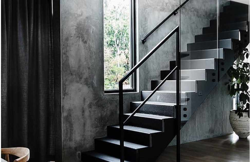 amazing luxury wall design in custom home staircase