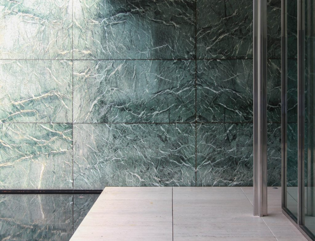 amazing exterior wall with faux marbling finish