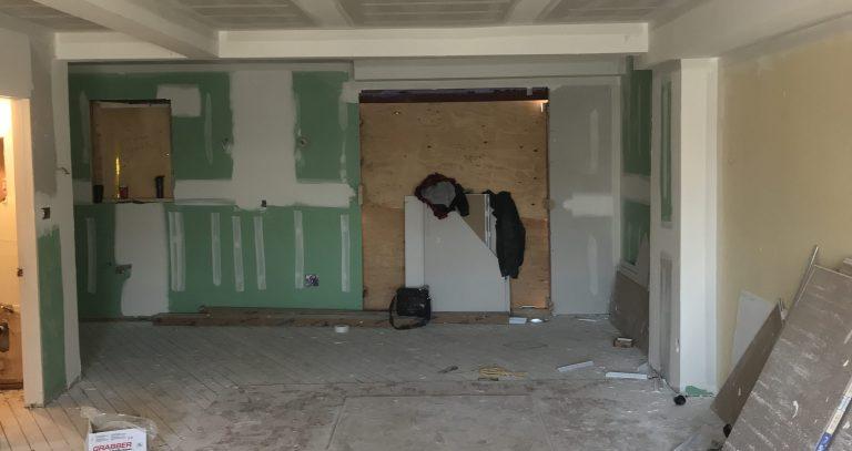 basement drywall installation by prestige team